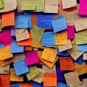 Offerte met Post-it notes